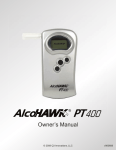 Q3 Innovations AlcoHAWK PT400 Owner`s manual