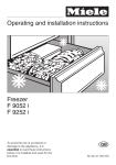 Operating and installation instructions Freezer F 9052 i F