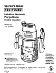 Craftsman 315.268350 Operator`s manual