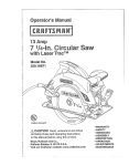 Craftsman 320.10871 Operating instructions