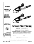 Craftsman 358.34021 Operating instructions
