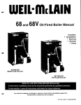 68 and 68V oil-Fired Boiler Manual