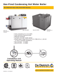 DeDietrich 310 ECO Series Operating instructions
