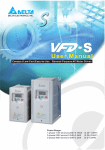 Delta Electronics AC Drive VFD-F Series Specifications