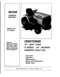 Craftsman 917.255919 Operator`s manual