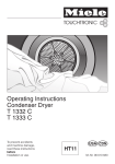 Miele T 1332C  CONDENSER DRYER - OPERATING Operating instructions