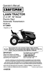 Craftsman 917.28862 Operator`s manual