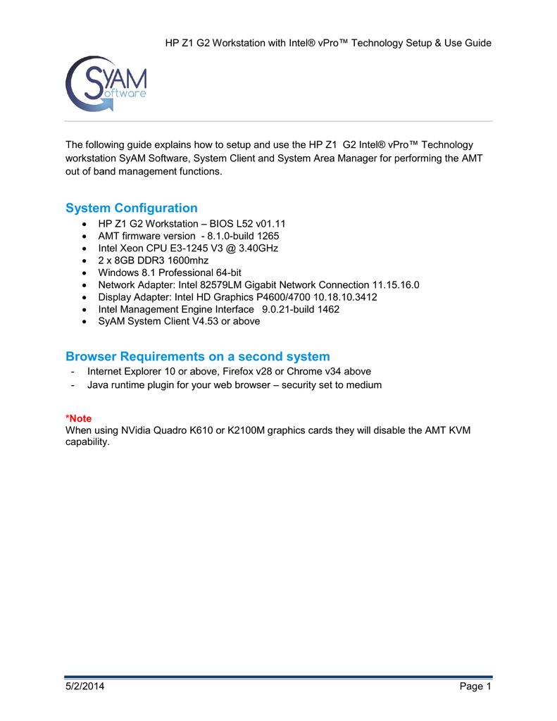 HP Z1 G2 User manual