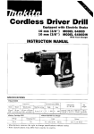 Makita 6400D Instruction manual