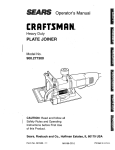 Craftsman 900.277300 Operator`s manual