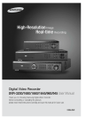 Samsung SVR 1680 User manual