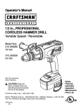 Craftsman 315.269280 Operator`s manual
