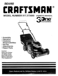 Craftsman 917.377330 Operator`s manual