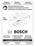 Bosch 4100DG Owner`s manual