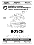 Bosch 4410L Operating instructions