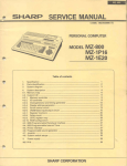 Sharp mz-800 Service manual