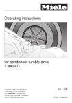 Miele T 8402 C Operating instructions