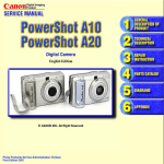 Canon Pro90 - PowerShot 2.6 MP IS Camera Service manual