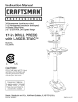 Craftsman 152.229010 Operating instructions