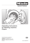 Miele POLARIS Operating instructions