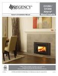 Regency Fireplace Products CI1250 Alterra Installation manual