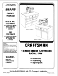 Craftsman 113.198410 Owner`s manual