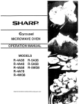 Sharp Carousel R-4A38 Specifications