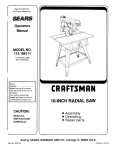 Craftsman 113.198111 Operator`s manual
