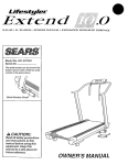Sears Lifestyler Extend 10.0 Owner`s manual