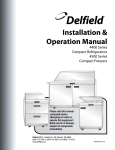 Delfield 4400 series Specifications