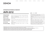 Denon AVR-3312CI Operating instructions