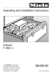 Miele F 456 i-2 Operating instructions