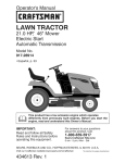 Craftsman 917.28914 Operator`s manual