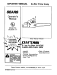 Craftsman 358.351040 Operator`s manual