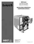 Dunkirk XEB-4 Operating instructions