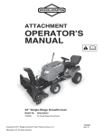 White Outdoor Single-Stage Snow Thrower Operator`s manual