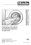 Miele W 340 Operating instructions