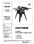 Craftsman 113.241680 Owner`s manual