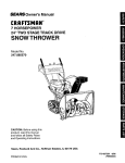 Craftsman 247.885570 Owner`s manual
