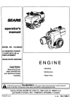 Craftsman 143.996524 Operator`s manual