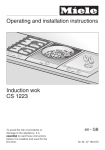 Operating and installation instructions Induction wok CS 1223