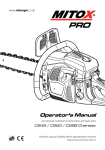 Mitox CS50 Operator`s manual