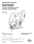 Craftsman 315.115690 Operator`s manual