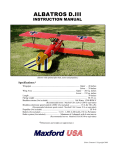 Maxford USA Albatros D.III Instruction manual