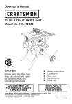 Craftsman 137.415020 Operator`s manual