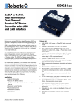 RoboteQ Dual Channel Digital Motor Controller AX2550 Datasheet