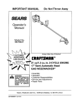 Craftsman 358.798441 Operator`s manual