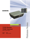 Siemens TC65 Terminal Specifications