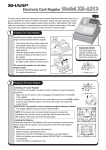 Sharp XE-A213 Instruction manual