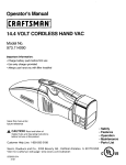 Craftsman 973.114090 Operator`s manual